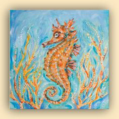 Painting The Sea in Acrylics | Underwater Painting Acrylic Acrylic Paintings Tags
