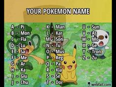 Pokemon name maker-flakaklaglusedorglutuqqpi or flakarkla (initials) for short.