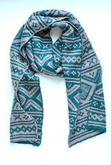 Western Teal and Rose Taupe Scarf