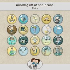 SoMa Design: Cooling Off At The Beach - Flairs Digital Scrapbooking, Decorative Plates, Cool Stuff, Beach, Kit, Design, Cool Things, Design Comics