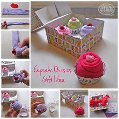 Baby gift ideas, cupcake onesies
