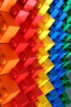 Colorful LEGO Bricks by Marco PECE - http://www.udronotto.it - If you ♥ LEGO®, come and have a look at the crowdest LEGO® LOVE group board http://www.pinterest.com/yourfrenchtouch/lego-love #LEGO