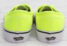 Vans Authentic Neon   Yellow/True White