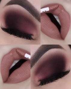 Autumn make up . Makeup Eye Looks, Smokey Eye Makeup, Cute Makeup, Pretty Makeup, Eyeshadow Makeup, Lip Makeup, Plum Eyeshadow, Eyeshadows, Makeup Brushes