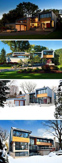 Altius Architecture have designed the Thorncrest House in Etobicoke, Ontario, Canada.