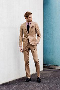 Beige summer suit - De Petrillo STYLING / 2017SS vol.1   FEATURE   B.R.ONLINE