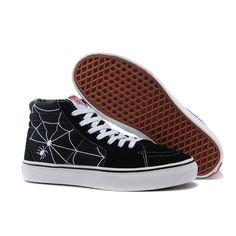 708efcd9c1c Vans Shoes Black Spiderman Sk8-Hi Shoes Unisex Classic Canvas Cheap Van