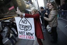 Protesters demonstrate against Trump at New York Republican gala #inewsphoto