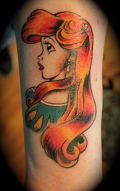 Classic lady tattoo: Ariel Style