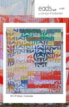 EADS Quilt 1121 Fat-Quarter Friendly Carolyn Frielander 6 sizes Paper-Piecing Patchwork Modern Quilting Pattern Sewing MODERN Sewing by KinshipQuilters on Etsy