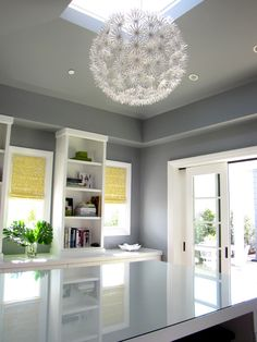 (these shades) Have always wanted this paper chandelier somewhere in our home. maybe laundry room or office. Eclectic Home Office Design, Pictures, Remodel, Decor and Ideas - page 2 Office Paint Colors, Room Colors, Wall Colors, Paint Colours, Eclectic Design, Interior Design, Interior Paint, Home Office Design, House Design