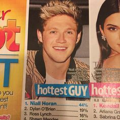 ok well duh....how dare they put Shawn in fourth place he deserves second because nialler will always be first