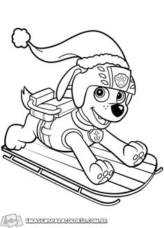 Paw Patrol Coloring Pages, Quote Coloring Pages, Adult Coloring Book Pages, Cartoon Coloring Pages, Christmas Coloring Pages, Free Printable Coloring Pages, Coloring Books, Colouring, Paw Patrol Christmas