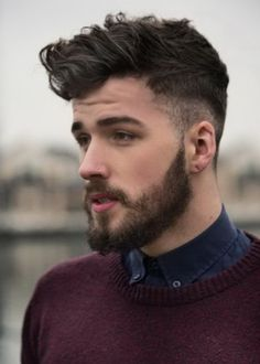 Top Mens Hairstyles with Beards #cool mens haircuts side short