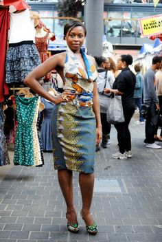 Fashion at the African market in Old Spitalfields, London #style #africanfashion