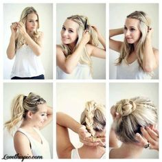 DIY braid to bun hairstyle diy diy ideas diy crafts do it yourself diy hair diy tips diy images do it yourself images diy photos diy pics diy hair styles diy ideas easy diy