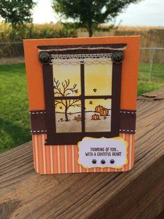 Fall Happy Window Scene