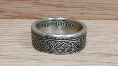 1 Rupee India Silver Coin Ring by JoshsCoinRings on Etsy