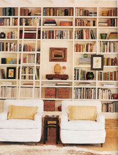 I hope one day I will have enough books for a library wall and kids that won't tear everything off it :)