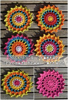 JEDBURGH Coaster Crochet - Free Pattern #crochet