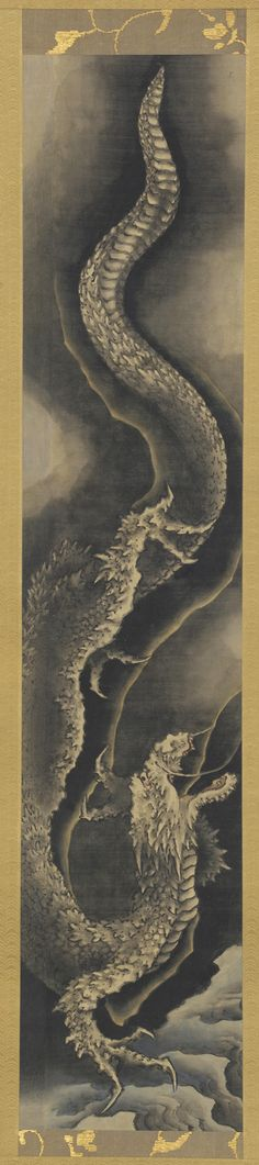 Descending dragon | 1760-1849 | Katsushika Hokusai (Japanese, 1760-1849) | Edo period | Ink and tint on silk | Japan | Gift of Charles Lang Freer | Freer Gallery of Art | F1904.189