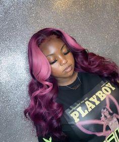 Purple hair weave sew in 33 Ideas Permanent Purple Hair Dye, Dyed Hair Purple, Purple Hair Black Girl, Purple Weave, Semi Permanent, Baddie Hairstyles, My Hairstyle, Red Weave Hairstyles, Frontal Hairstyles