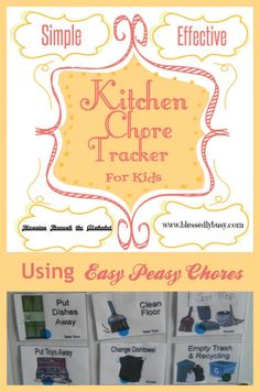 Kitchen Chores Tracker Using Easy Peasy Chore System   Blessedly Busy