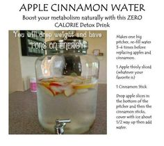 Apple Cinnamon Detox Water.  Who wants more refreshing and healthy detox drink? Here's another. It's very easy to make!