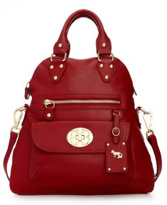 Emma Fox Handbag, Classics Large Foldover Tote - Emma Fox - Handbags & Accessories - Macy's Bordeaux SALE $222.99