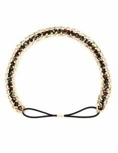 floral chiffon & metal chain headwrap
