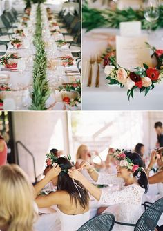 Floral crown bridal shower lunch