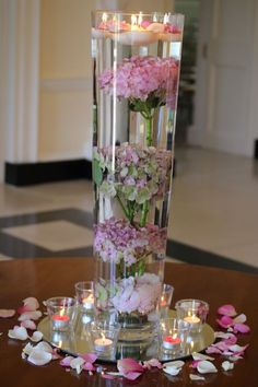 Image result for hydrangea submerged centerpiece