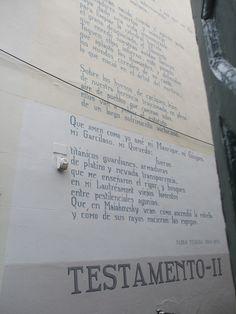 poetry on public wall Leiden