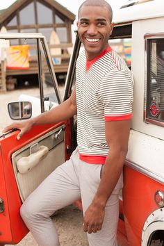 mrturk:  Francois Angoston in the Mr Turk Bradley Sweatshirt + Swell Cropped Trouser