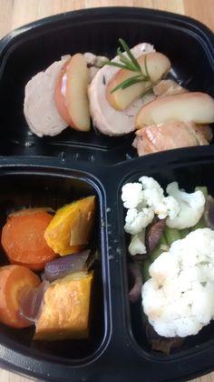 Yes Food Brasil - Linha SPA 380gr LowCarb - Filé de porco com maças e legumes (cenoura, couve-flor, vage, moranga e cebola roxa).