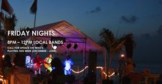 You won't regret paying a visit to the Macabuca Oceanside Tiki Bar & Grill! Grand Cayman Island, Cayman Islands, Cayman S, Local Bands, 10 Year Anniversary, Bar Grill, Beach Bars, Cool Bars, Refreshing Drinks