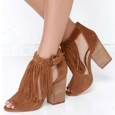 What's Hot! Chinese Laundry Boho Leather Fringe Booties