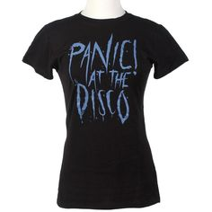Panic! At The Disco Logo Girls T-Shirt ❤ liked on Polyvore featuring tops, shirts, panic at the disco and t-shirts