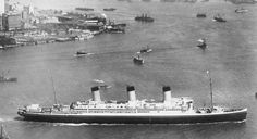 """The """"Majestic"""" in 1923. She was the largest and one of the fastest ships in the world at that time and weighed more than 56,000 tonnes."""