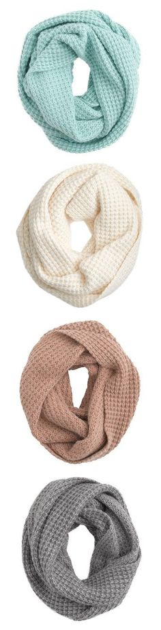 Waffle Scarves by J.Crew wow If I could have all of these