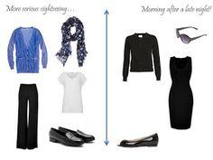 Packing: black, white