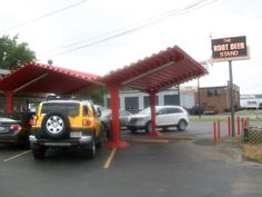 The Root Beer Stand in Sharonville, Ohio. Originally opened in 1957 as an A Root Beer Stand with only drive up service.