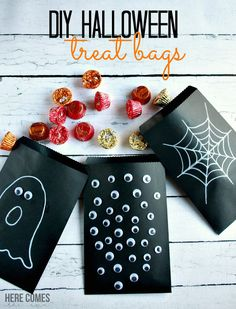These Halloween treat bags are easy to make and fun to share!