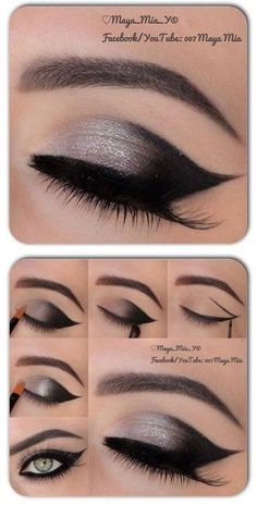 Perfect party eye makeup