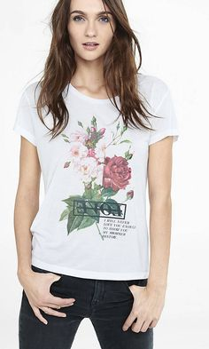 Floral Love Boxy Graphic Tee from EXPRESS