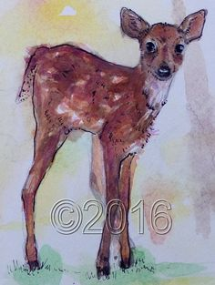 The Little Deer by thebluewindmill on Etsy