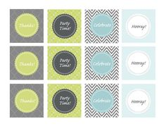 Party tags/cupcake toppers!