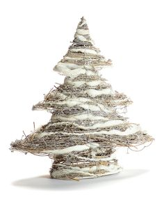 Snowy Christmas Tree Décor by Giftcraft #zulily #zulilyfinds