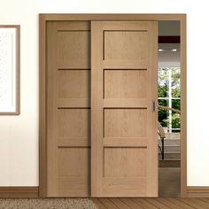 Image result for shaker door sliding white
