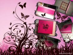Ξύλινο κουτί με 9 διαχωριστικά (φούξια χρώμα με λεπτομέρεια κρακελε 1ος συστατικου)